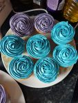 Blue & Purple Party Cupcakes